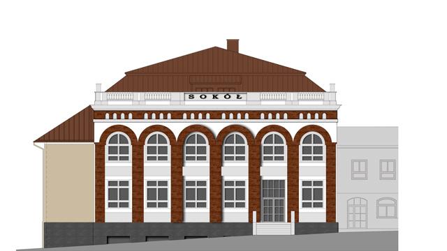 """Rewaloryzacja budynku dawnego """"Sokoła"""" w Nowym Targu"""